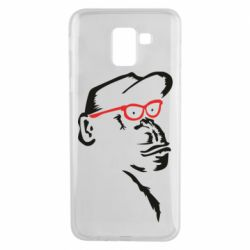 Чохол для Samsung J6 Monkey in red glasses