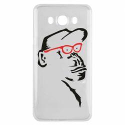Чохол для Samsung J7 2016 Monkey in red glasses