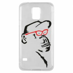Чохол для Samsung S5 Monkey in red glasses