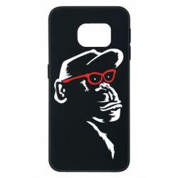 Чохол для Samsung S6 EDGE Monkey in red glasses