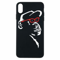 Чохол для iPhone Xs Max Monkey in red glasses