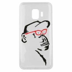 Чохол для Samsung J2 Core Monkey in red glasses