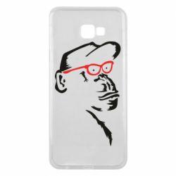 Чохол для Samsung J4 Plus 2018 Monkey in red glasses