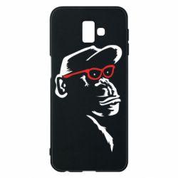 Чохол для Samsung J6 Plus 2018 Monkey in red glasses
