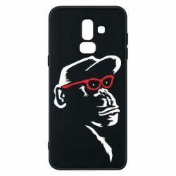 Чохол для Samsung J8 2018 Monkey in red glasses