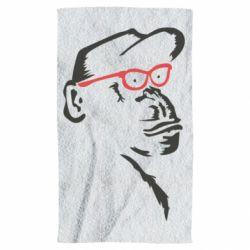 Рушник Monkey in red glasses