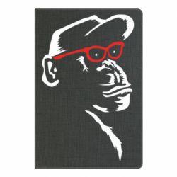 Блокнот А5 Monkey in red glasses