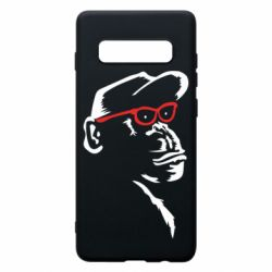 Чохол для Samsung S10+ Monkey in red glasses