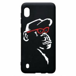 Чохол для Samsung A10 Monkey in red glasses