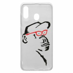 Чохол для Samsung A30 Monkey in red glasses