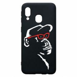 Чохол для Samsung A40 Monkey in red glasses