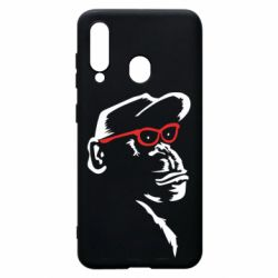 Чохол для Samsung A60 Monkey in red glasses