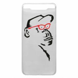 Чохол для Samsung A80 Monkey in red glasses