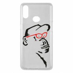 Чохол для Samsung A10s Monkey in red glasses