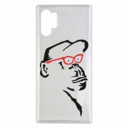Чохол для Samsung Note 10 Plus Monkey in red glasses