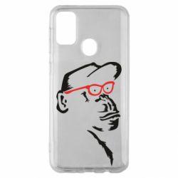 Чохол для Samsung M30s Monkey in red glasses