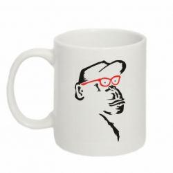 Кружка 320ml Monkey in red glasses