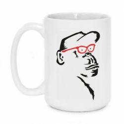 Кружка 420ml Monkey in red glasses