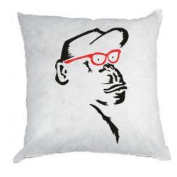 Подушка Monkey in red glasses
