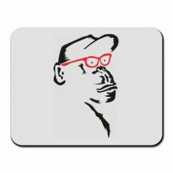 Килимок для миші Monkey in red glasses