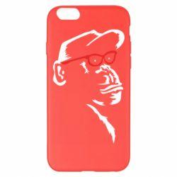 Чохол для iPhone 6 Plus/6S Plus Monkey in red glasses
