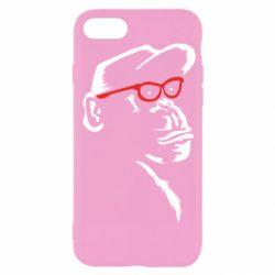 Чохол для iPhone 7 Monkey in red glasses
