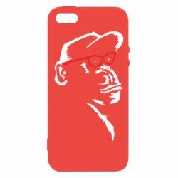 Чохол для iphone 5/5S/SE Monkey in red glasses