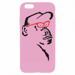 Чохол для iPhone 6/6S Monkey in red glasses