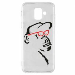 Чохол для Samsung A6 2018 Monkey in red glasses