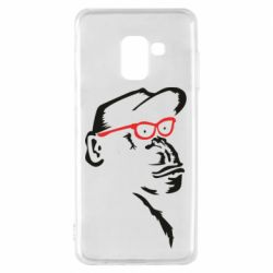 Чохол для Samsung A8 2018 Monkey in red glasses