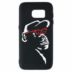 Чохол для Samsung S7 Monkey in red glasses