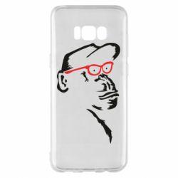 Чохол для Samsung S8+ Monkey in red glasses