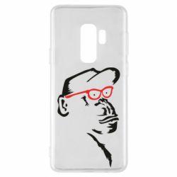 Чохол для Samsung S9+ Monkey in red glasses
