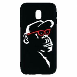Чохол для Samsung J3 2017 Monkey in red glasses