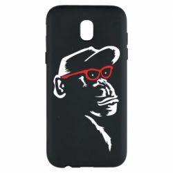 Чохол для Samsung J5 2017 Monkey in red glasses
