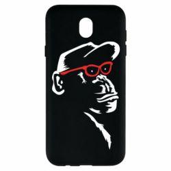 Чохол для Samsung J7 2017 Monkey in red glasses