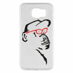 Чохол для Samsung S6 Monkey in red glasses