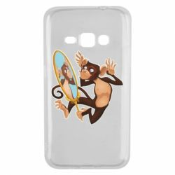 Чохол для Samsung J1 2016 Monkey playing with a mirror