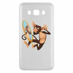 Чохол для Samsung J5 2016 Monkey playing with a mirror
