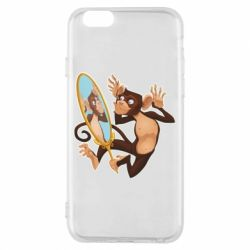 Чохол для iPhone 6/6S Monkey playing with a mirror