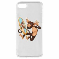 Чохол для iPhone 8 Monkey playing with a mirror