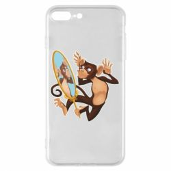 Чохол для iPhone 8 Plus Monkey playing with a mirror