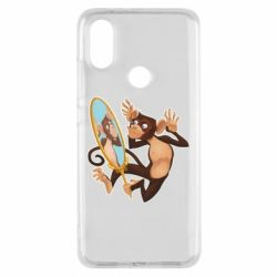 Чохол для Xiaomi Mi A2 Monkey playing with a mirror