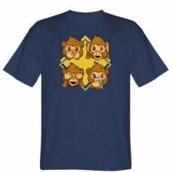 Мужская футболка Monkey See Hear Talk
