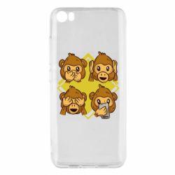 Чехол для Xiaomi Mi5/Mi5 Pro Monkey See Hear Talk