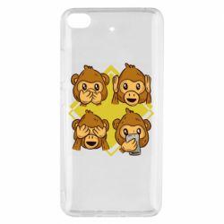 Чехол для Xiaomi Mi 5s Monkey See Hear Talk