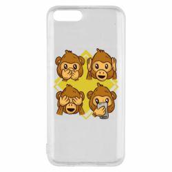 Чехол для Xiaomi Mi6 Monkey See Hear Talk
