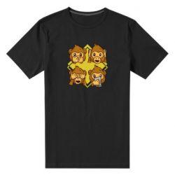 Мужская стрейчевая футболка Monkey See Hear Talk