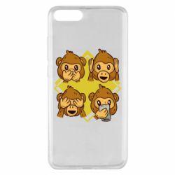 Чехол для Xiaomi Mi Note 3 Monkey See Hear Talk