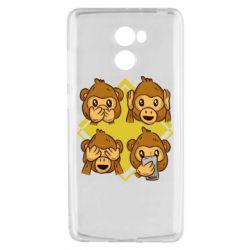 Чехол для Xiaomi Redmi 4 Monkey See Hear Talk